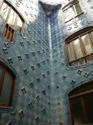 blaues Treppenhaus